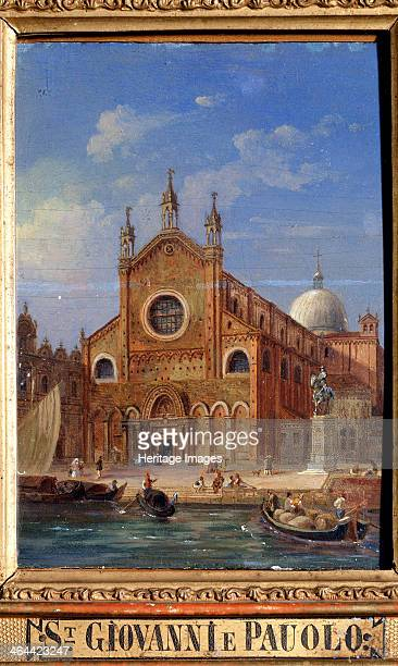 'The Santi Giovanni e Paolo Church' 19th century From a series of views of Venice This church was built by the Dominican order between 1230 and 1430...