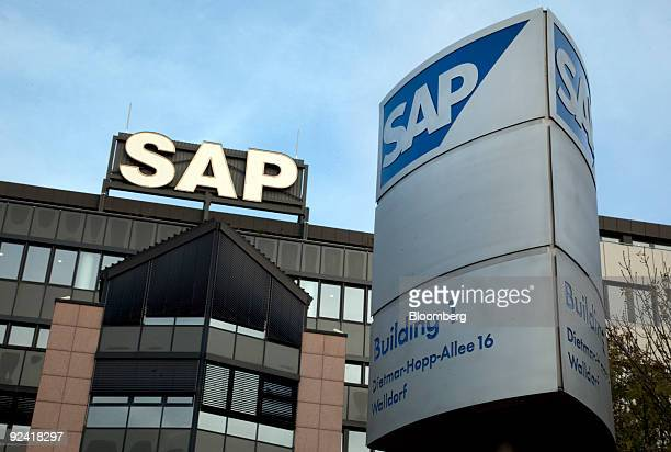 The SAP AG headquarters stand in Walldorf Germany on Wednesday Oct 28 2009 SAP AG the world's biggest maker of businessmanagement software cut its...
