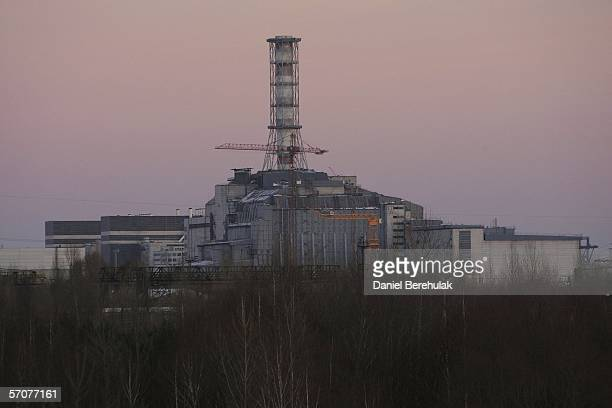 The Sarcophagus of the Chernobyl Nuclear Reactor number 4 is seen on January 24 2006 in Chernobyl Ukraine Within seven months the number 4 reactor...