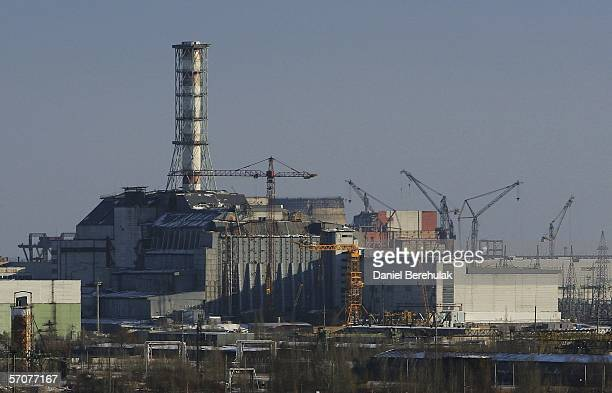 The Sarcophagus of the Chernobyl Nuclear Reactor number 4 is seen on January 25 2006 in Chernobyl Ukraine Within seven months the number 4 reactor...