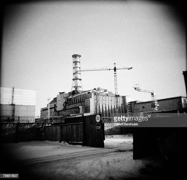 The Sarcophagus of the Chernobyl Nuclear Reactor number 4 is seen on January 24, 2006 in Chernobyl, Ukraine. Within seven months the number 4 reactor...