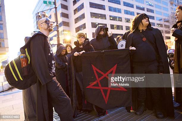 The Satanic Maryland DC group gathers near the National Mall before the inauguration of Donald Trump as the 45th President of the United States...
