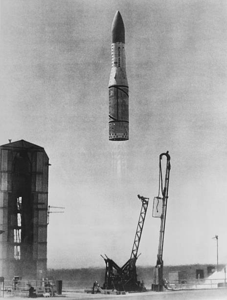 The satellite Prospero X-3 is launched from the RAAF...