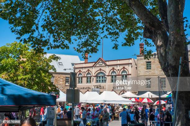 SALAMANCA HOBART TASMANIA AUSTRALIA The Saturday Salamanca Market at Salamanca Place in Hobart Tasmania The arts and crafts market is one of the...