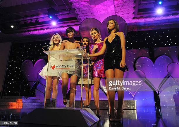 The Saturdays attend the Variety Club Showbiz Awards at the Grosvenor House on November 15 2009 in London England