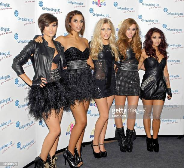 The Saturdays backstage at Girlguiding UK's Big Gig at Wembley Arena on October 17 2009 in London England