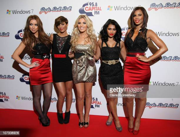 The Saturdays Una Healy Frankie Sandford Mollie King Vanessa White and Rochelle Wiseman attend the 958 Capital FM Jingle Bell Ball in association...