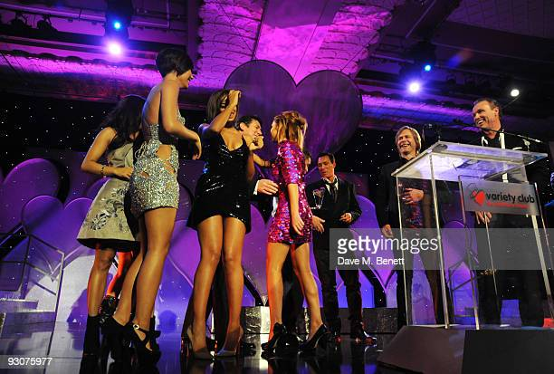 The Saturdays with Spandau Ballet attend the Variety Club Showbiz Awards at the Grosvenor House on November 15 2009 in London England