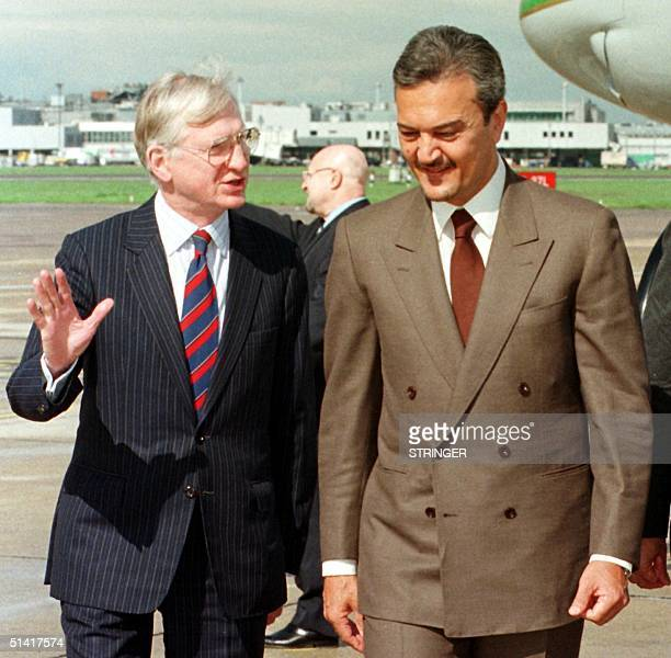 The Saudi Arabian Foreign Minister, Prince Saud Al-Faisal arrives at Heathrow Airport, London, 27 April, to attend the Gulf Conference at Lancaster...