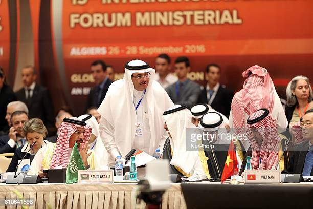 The Saudi Oil Minister Khaled alFaleh attends the 15th International Energy Forum in Algiers on September 27 on the eve of an informal OPEC meeting...