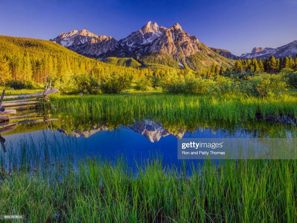 The Sawtooth Mountain Range, Stanley Idaho : Stock Photo