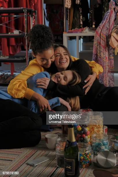 TYPE 'The Scarlett Letter' Episode 203 Pictured Aisha Dee as Kat Edison Meghann Fahy as Sutton Brady Katie Stevens as Jane Sloan