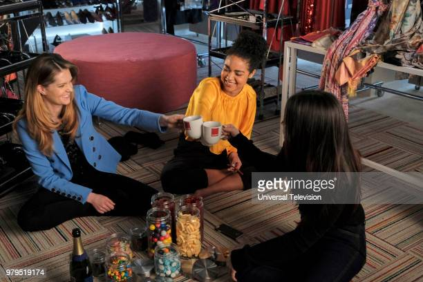 TYPE 'The Scarlett Letter' Episode 203 Pictured Meghann Fahy as Sutton Brady Aisha Dee as Kat Edison Katie Stevens as Jane Sloan
