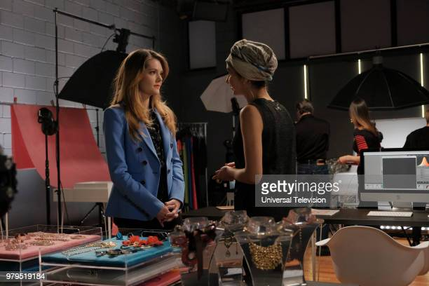 TYPE 'The Scarlett Letter' Episode 203 Pictured Meghann Fahy as Sutton Brady Nikohl Boosheri as Adena ElAmin