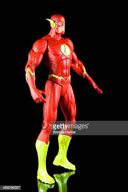 the scarlett speedster - the flash superhero stock photos and pictures