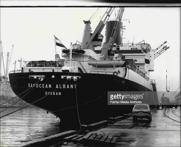 The scene at 10 Pyrmont today where a 39yearold wharf labourer was crushed by a 20 tonne container in the hold of the Safocean Albany July 26 1979
