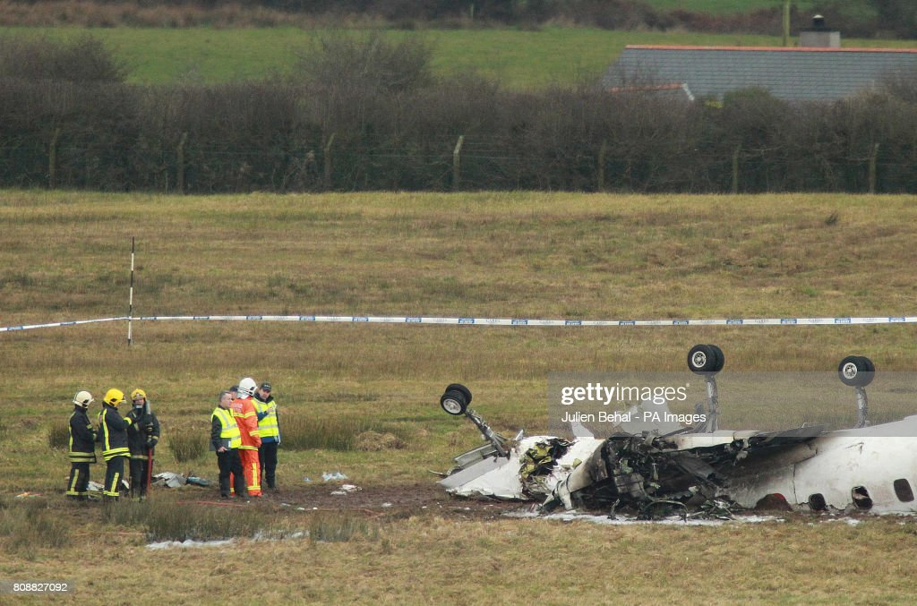 The scene at Cork Airport where six people died today and