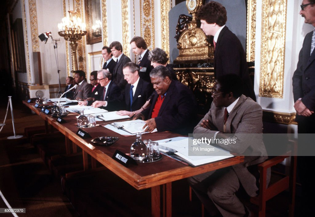 The Scene At Lancaster House London After The Signing Of The