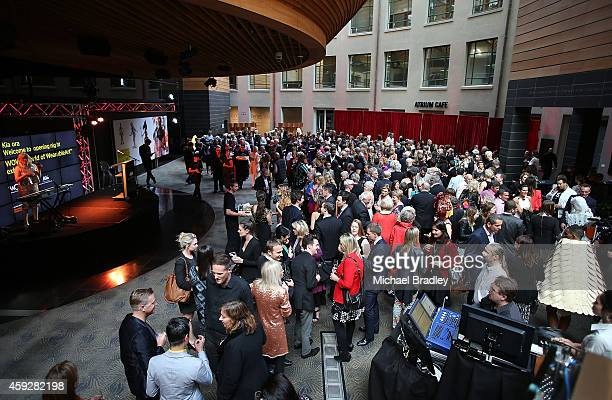 The scene at the Auckland War Memorial Museum's World of Wearable Art exhibition opening at Auckland Museum on November 20 2014 in Auckland New...