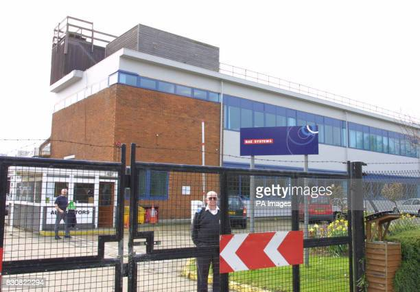 The scene at the defence equipment manufacturers BAE Systems in Basildon Essex after it was announced a defence worker empoyed there has been charged...