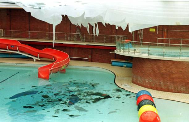 The Scene At Whitley Bay Leisure Centre North Tyneside Tyne And Wear Today Friday After