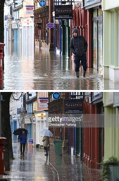 COMPOSITE IMAGE In this composite a comparison has been made between a scene of the High Street in Cockermouth photographed on December 6 2015 and on...