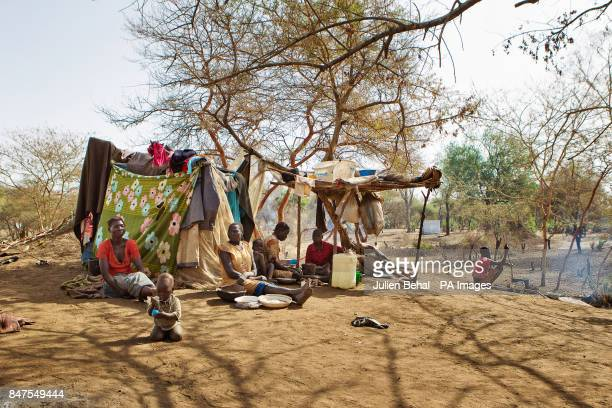 The scene in Doro refugee camp in BunjMaban in the Upper Nile Blue Nile state of northeastern South Sudan AfricaThe region recently suffered from...