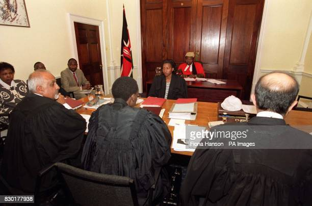 The scene inside the Kenya High Commission in central London, where the High Court of Kenya is hearing evidence in the trial of Simon ole Makallah, a...
