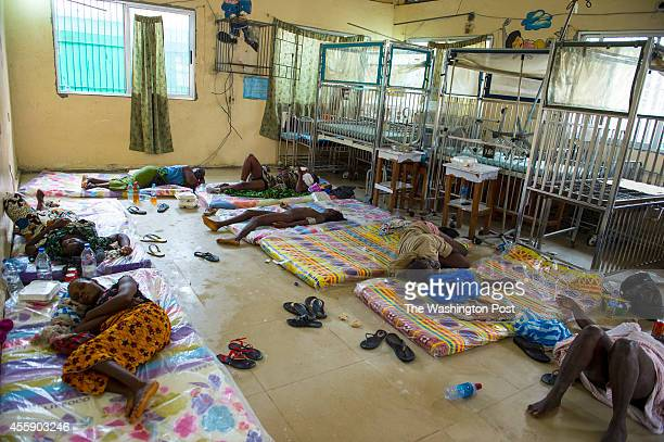 The scene inside the Redemption Hospital which has become a transfer and holding center to intake Ebola patients located in one of the poorest...