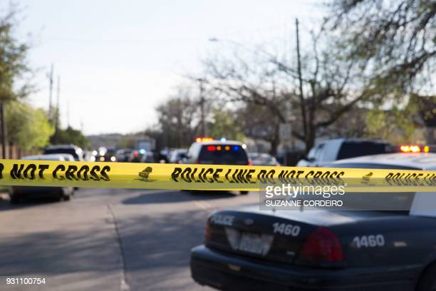 The scene near Galindo Street in Austin Texas on March 12 2018 where a woman in her 70s was injured in an explosion The incident was the second...