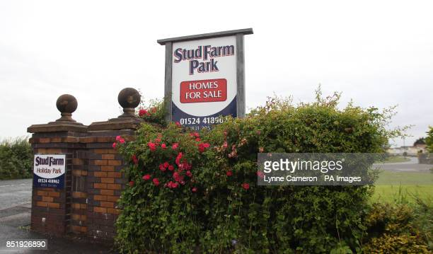 The scene of a fatal stabbing at Stud Farm Holiday Park in Heysham Lancashire