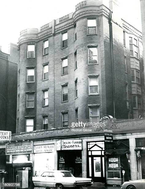 The scene of a strangling murder allegedly connected to the Boston Strangler crimes at 315 Huntington St in the Back Bay neighborhood Dec 6 1962