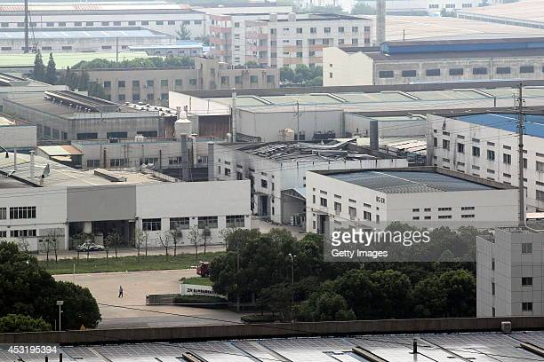 The scene of an explosion in a factory is securely enclosed on August 4, 2014 in Kunshan, Jiangsu Province of China. At 7:37AM on August 2 a serious...
