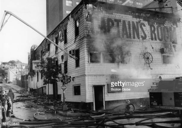 The scene of fire at the Captain's Room in South Boston Oct 9 1974