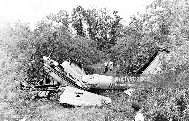The scene of Senator Edward M. Kennedy's plane crash at Northamton, Mass.