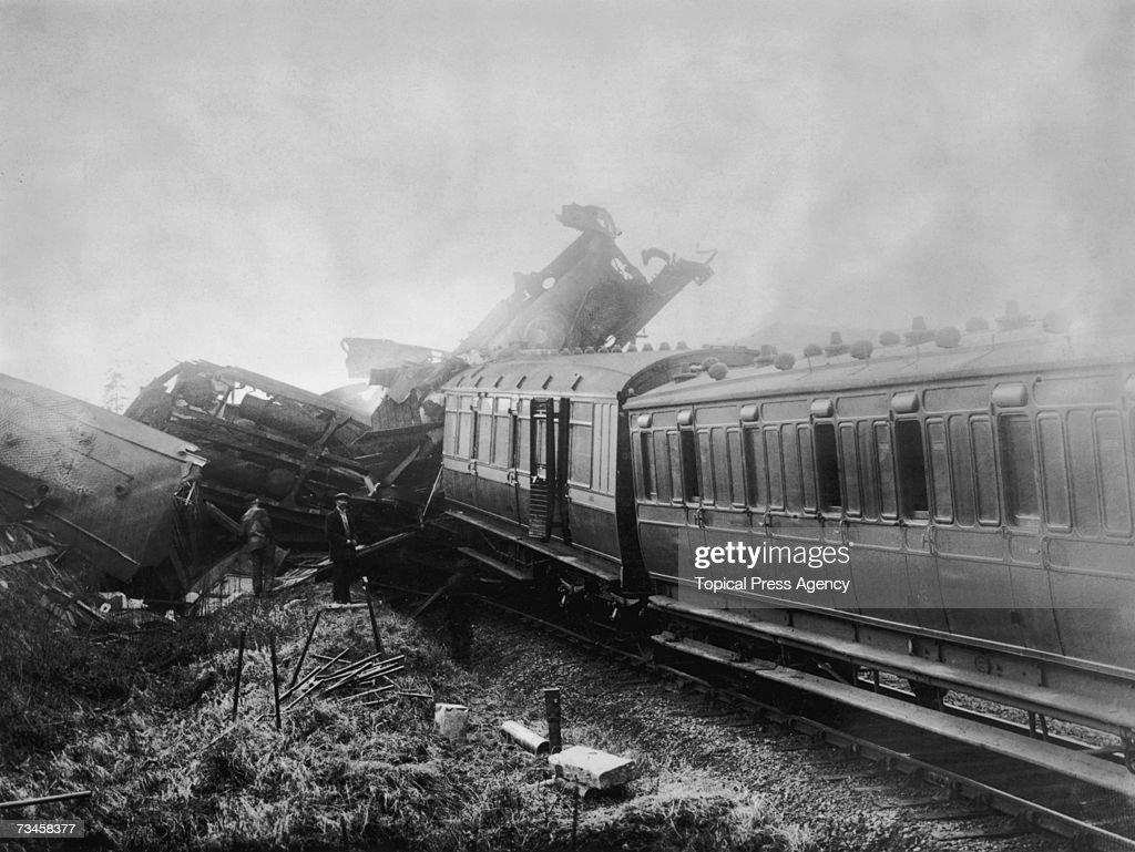 Abermule Rail Crash Pictures | Getty Images