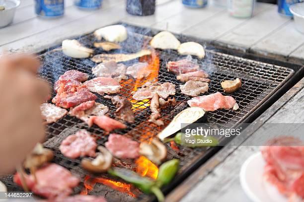 the scene of the barbecue - バーベキュー ストックフォトと画像