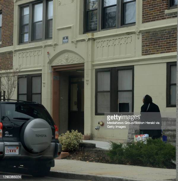 The scene of the fatal Dorchester home invasion at 85 Esmond Street Thursday, January 16, 2014. Staff photo by Ted Fitzgerald