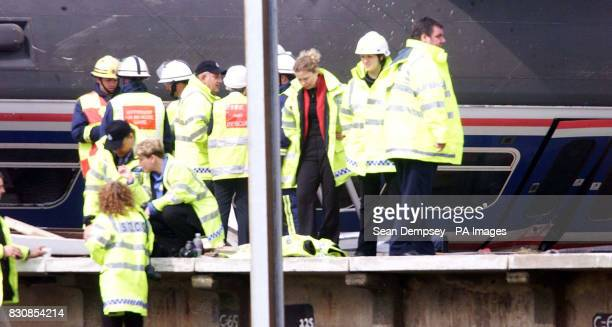 The scene of the rail crash Potters Bar Hertfordshire A West Anglia Great Northern spokeswoman said it was thought that about 20 to 30 people were in...