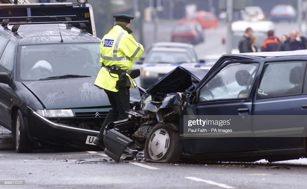 Belfast car crash scene Pictures | Getty Images