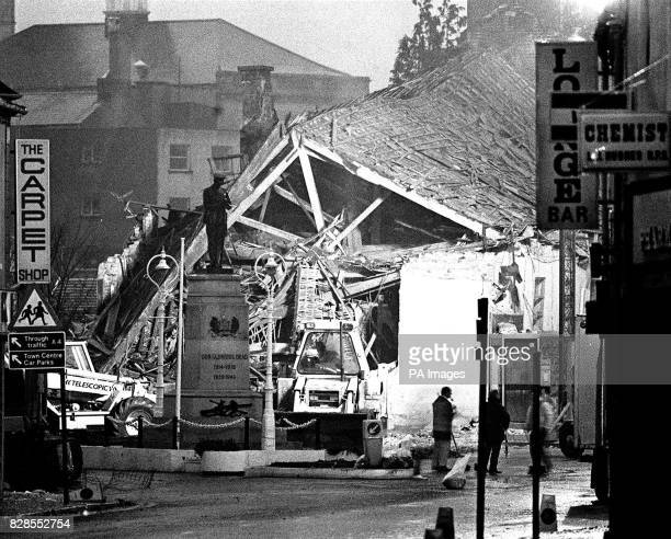The scene of today's massive terrorist bomb explosion in Enniskillen in which eleven people died and more than 40 were injured many of them children...
