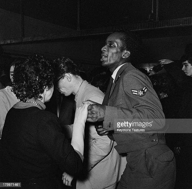 The scene on the dance floor at the 'Club Americana', a Saturday night jazz club open from midnight until 7 a.m., London, 25th November 1955.