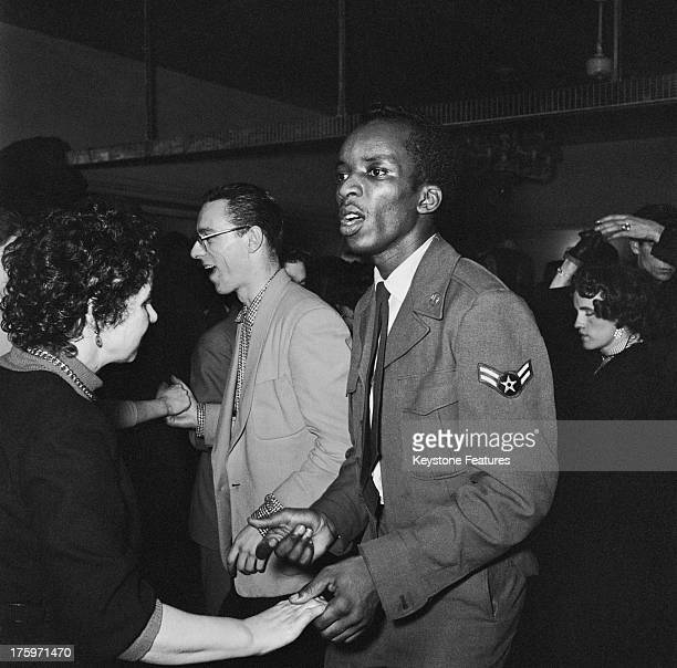 The scene on the dance floor at the 'Club Americana' a Saturday night jazz club open from midnight until 7 am London 25th November 1955