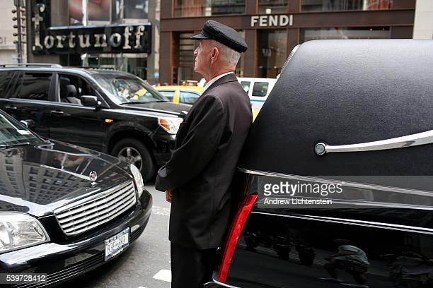 The scene outside of St Thomas Church on 5th Avenue and 53rd Street where New York society figure Brooke Astor's funeral services were held
