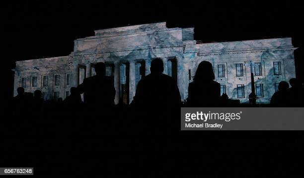 The scene outside the Auckland War Memorial Museum at the world premiere of ANTARCTICA while you were sleeping at the Auckland War Memorial Museum on...