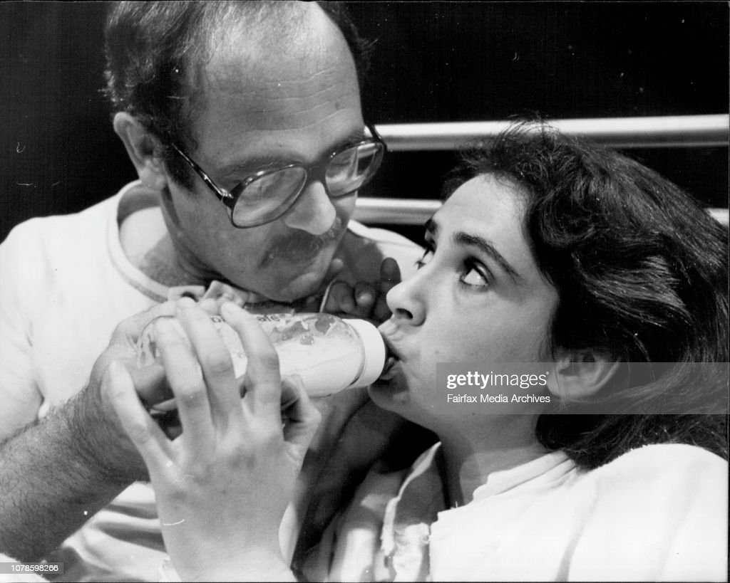 The scene shows Eddie, a radical American therapist, bottle feeding milk to Mary, during a long and eventually rewarding treatment to Mary, during a long and eventually rewarding treatment to Mary a schizophrenic, later brought back to normal behavior by : News Photo