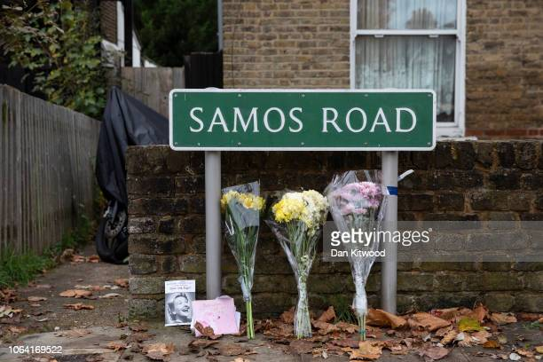 The scene where Ayodeji Habeeb Azeez from Dagenham was stabbed and killed on November 4 in Annerly on November 06 2018 in London United Kingdom A 16...
