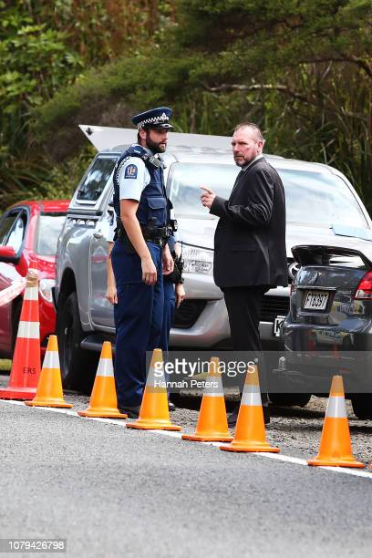 The scene where the body of British tourist Grace Millane has been found by New Zealand police in the Waitakere Ranges on December 09 2018 in...