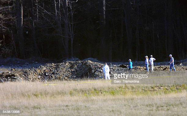 The scene where the fourth plane crashed in Shanksville Pennsylvania