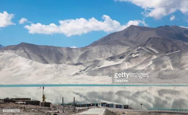 the scenery of baisha lake,xinjiang,china - tien shan mountains stock pictures, royalty-free photos & images